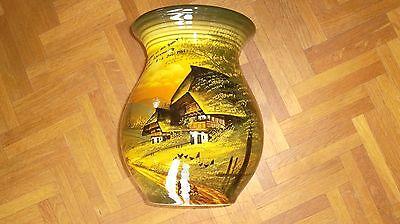 Vase SMF Majolika Schramberg Dekor Schwarzwald handgemalt 8 - VdK Wittmung1955