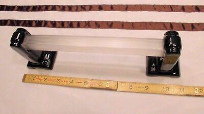 1 pair  Art-Deco *Glossy Black* Ceramic Towel Bar Brackets Surface Mount + pole