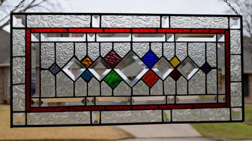 Beveled Stained Glass Transom Window