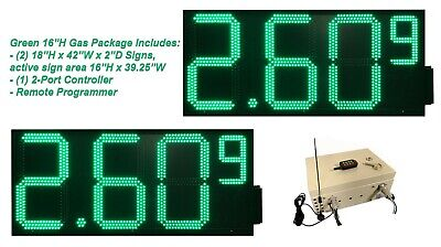 Led Gas Price Signs Double Sidegreen 16 X 41 Remote Control Full Package