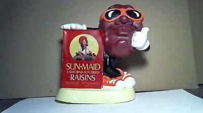 Sun Maid California Raisins (VINTAGE 1987 SUN-MAID CALIFORNIA RAISINS PLASTIC COIN BANK PIGGY BANK by)