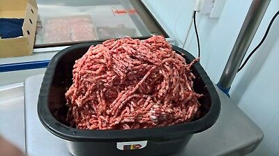 Dog Food Frozen BEEF (OX) HEART & CHICKEN MINCE. BARF RAW DIET 20x500g  10kg BOX