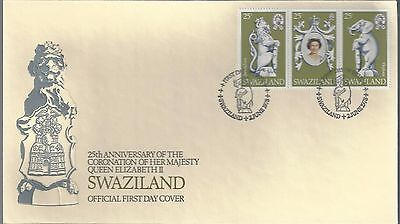 1978 British  Swaziland FDC 25th Anniversary of Queens Coronation