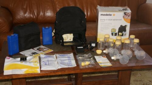 Medela-Pump-In-Style Advanced Double Breast Pump Backpack Style With Accessories
