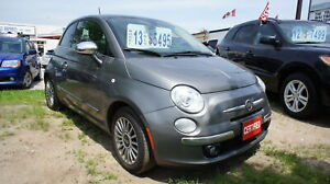 2013 Fiat 500 LOUNGE, LEATHER, SUNROOF