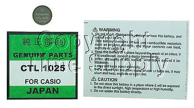 PANASONIC CTL 1025 CTL1025 WATCH BATTERY CASIO G-SHOCK