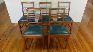 Vintage 70s Dining Chairs, Set of 5 Reupholstered Hurlstone Park Canterbury Area Preview