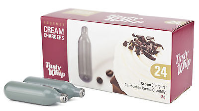 600 Whipped Cream Chargers Nitrous Oxide 8g Tasty Whip Grey N2O NOS Canisters