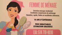 Femme de ménage - Prix IMBATTABLES!