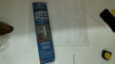 HAGER LATCH PROTECTION PLATE 341D W/ LOCK CUT OUT