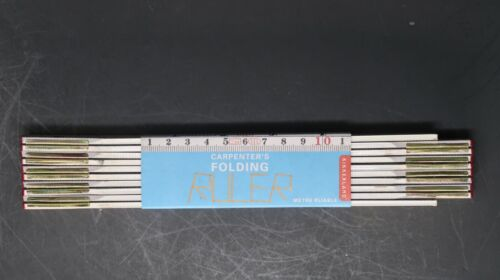 2 Meter / 78 Inch White Wooden Fold Out Ruler 10 Fold