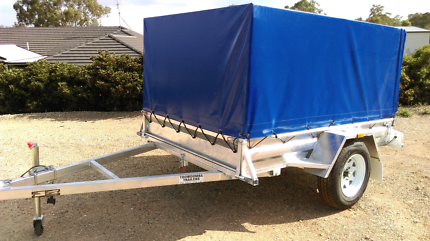 Canvas Canopies galvanised Box Trailers.