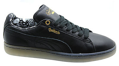 Puma Sophia Chang Basket Classic Black Womens Leather Trainers 357297 01 B24E