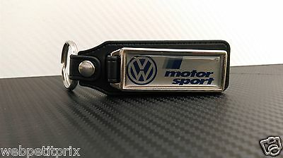 Porte clés LONG CUIR  Volkswagen MOTOR SPORT Golf Polo Passat beetle Tiguan ETC
