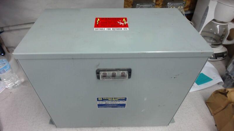 SQUARE D, POWER FACTOR CAPACITOR, PFC2022F, 22.5 KVAR, 240 VOLTS, 60HZ, 3 PH