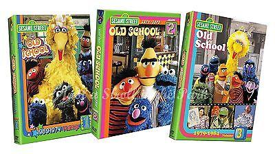 Sesame Street Old School Tv Series Seasons Complete Volumes 1  2   3 Dvd Set S