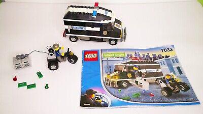 LEGO CITY 7033 PORTAVALORI POLIZIA CON MANUALE COMPLETO 100%
