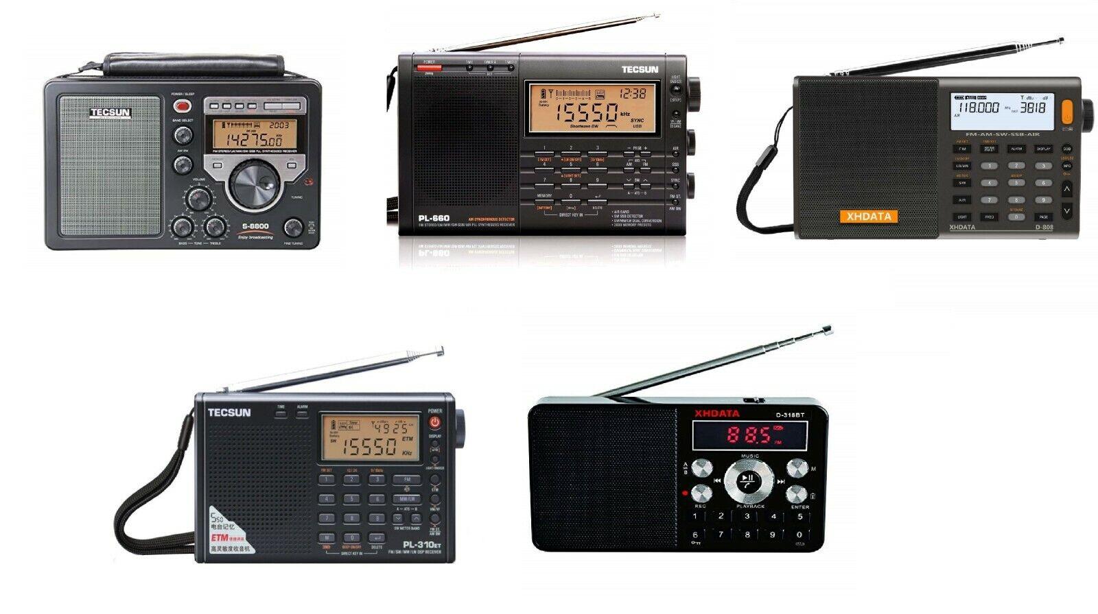 TECSUN SHORTWAVE RADIO S-8800,PL-660,PL-310ET,D-808 XHDATA D