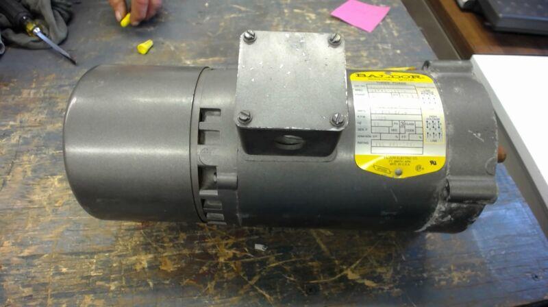 Baldor Kbm3454, .25 Hp, 208-230/460 Volts, 1725 Rpm 4P, 56C Frame Brake Motor