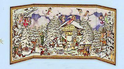 Winterzeit Nostalgischer Schiebe-Adventskalender z.Aufstellen 24 Figuren Glimmer