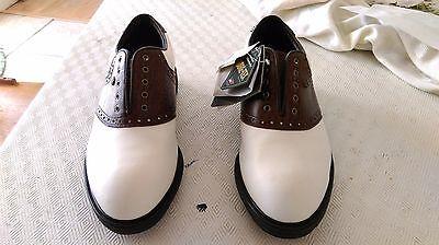 NWT UNUSED WALTER HAGEN FULL LEATHER & GORE TEX Sz. 9.5M Golf Shoes