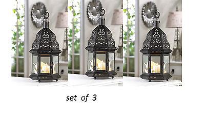 3 bulk lot Black Moroccan Candle holder Birdcage lantern wedding centerpiece