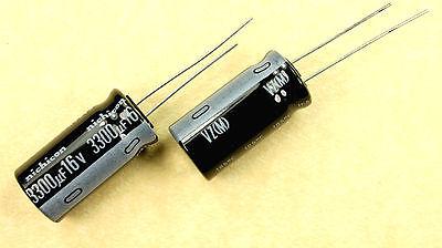 8pcs Nichicon Vz 3300uf 16v 105c Radial Electrolytic Capacitor 3300mfd