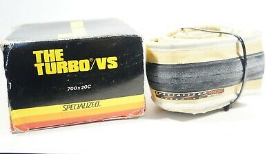 NOS VINTAGE SPECIALIZED TURBO S 700x23C CLINCHER FOLDABLE GUM WALLED BLACK TIRE
