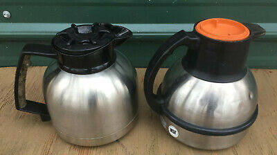 Lot 2 Stainless Steel Coffee Pots Carafe Server Commercial Thermal