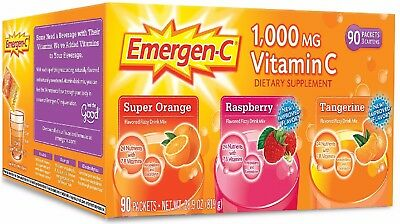 Emergen C Variety Flavor Pack 90 Ct 7 B Vitamins To Enhance Energy Naturally