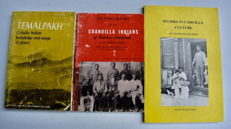 Lot of Three Vintage 1970s Cahuilla Indians of Southern California