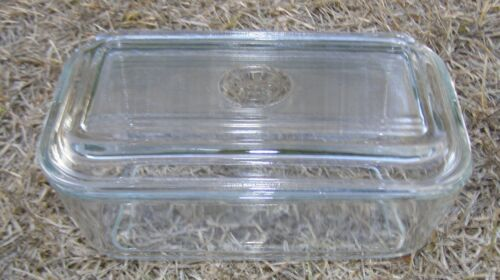Antique Duralex France Clear Glass Butter Dish Tray 6.75in