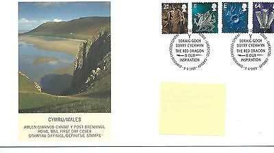 wbc. - GB - FIRST DAY COVER - FDC - WALES -1999- 4 vals to 64p - Pmk CF