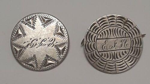 2 seated liberty silver dimes coin love token 1800s engraved star and letters