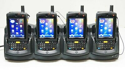 Lot 4x Symbol Motorola Mc75a8-p1eswqra9wr Barcode Scanner New Battery Mc75a Mc75