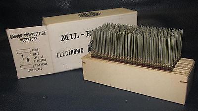 Mil Spec Box Of 14w Watt Carbon Comp 5 Resistors 51 Ohm 1000 Pieces