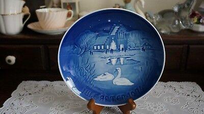 VINTAGE B & G COPENHAGEN PORCELAIN CHRISTMAS PLATE 1974, Denmark, used for sale  Ann Arbor