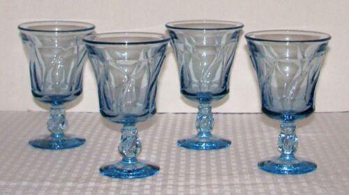 "Set of (4) Fostoria Jamestown Blue 5 7/8"" 10 oz  Goblets No. 2719/2 - EXCELLENT"