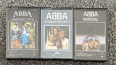 3 X Abba Great Hits 1 & Vol 2 Arrival Music Cassettes
