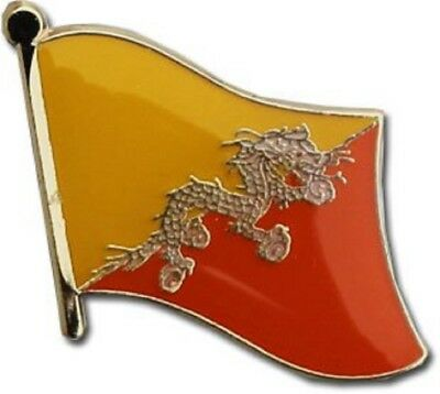 Wholesale Pack of 50 Bhutan Country Flag Bike Hat Cap lapel Pin