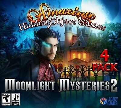 Computer Games - Moonlight Mysteries 2 PC Games Window 10 8 7 XP Computer hidden object games