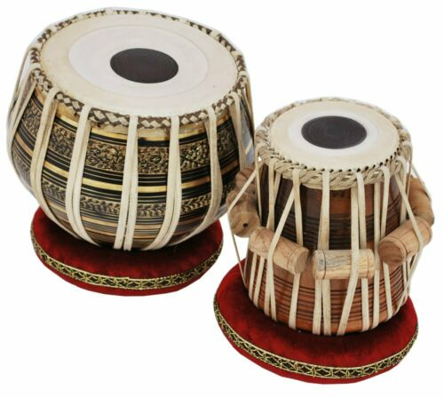 SAI MUSICAL Tabla Drum Set - Buy 2.5KG Black Brass Bayan, Finest Dayan with Book