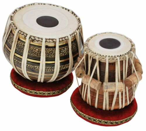 SAI MUSICAL |Tabla Drum Set - 2.5KG |Black Brass |Bayan, Finest |Dayan with Book