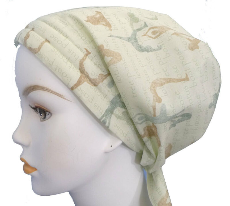 Yoga Chemo Cancer Hat Alopecia 100% Cotton Hairloss Scarf Turban Headwrap