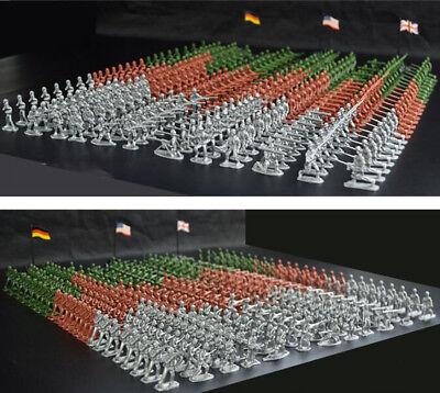 Militär Kunststoff Spielzeug Soldaten Armee Männer 1:72 Figuren in 12 Positionen ()