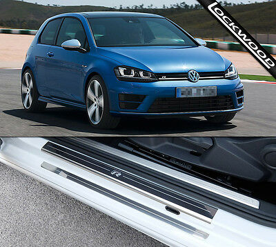 VW Golf Mk7 R (released approx 2014) 2 Door Sill Protectors / Kick Plates