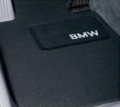 BMW Black Carpet Floor Mats w/Heel Pad 1995-2001 740iL 750iL Sedans 82111469519