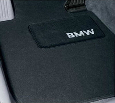 BMW OEM Black Carpet Mats 2012-2018 F12 Convtbl F13 Coupe Non xDrive 51472164756