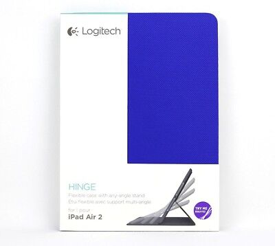 New Logitech Hinge Flexible Protective Folio Case for iPad Air 2 - Free