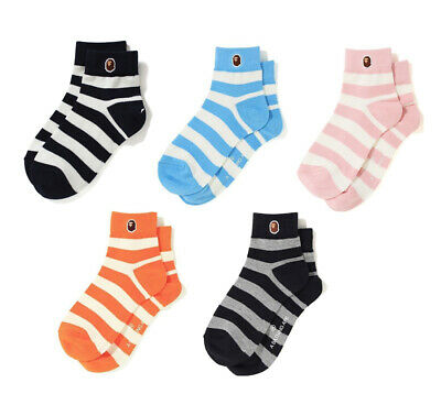 A BATHING APE Goods Men's ANKLE HOOP SOCKS 5colors From Japan new